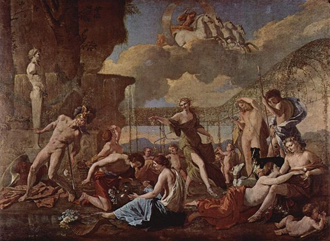 El reino de Flora - Nicolas Poussin