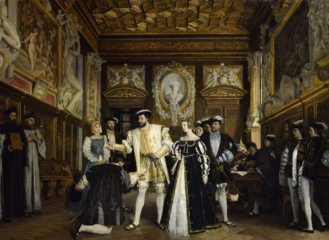 Isidoire Patrois: Francisco I y le Rosso. Château Royal de Bloi / F. Lauginie