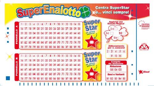 Boleto lotería nacional italiana