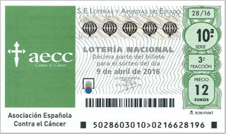 Sorteo Especial contra cáncer