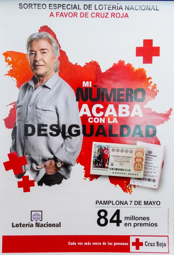 Sorteo Lotería Nacional a favor de Cruz Roja