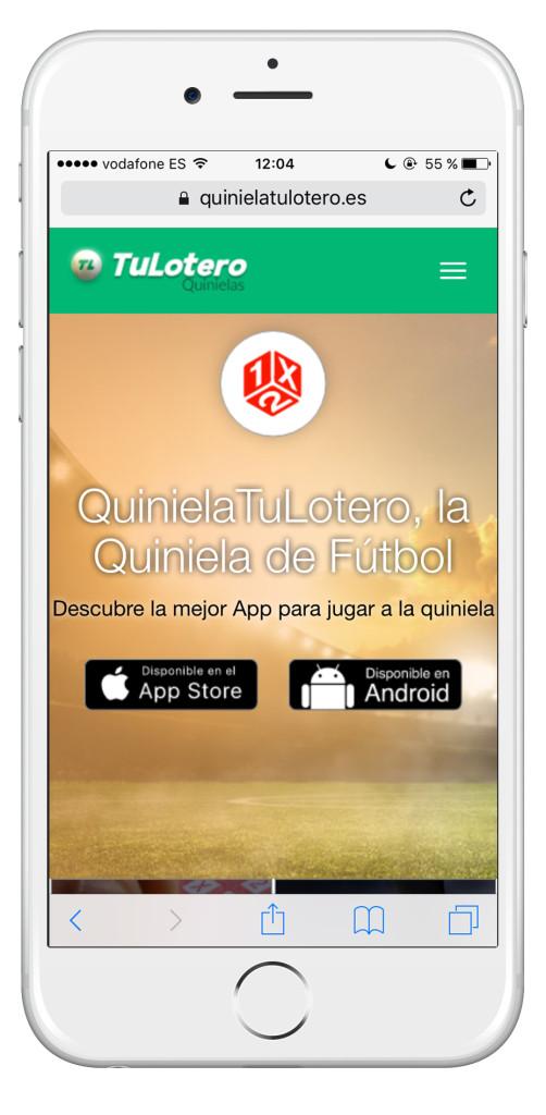 Nueva web de Quiniela