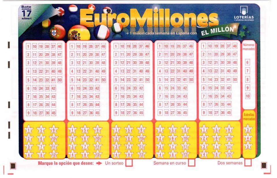 Nuevo boleto Euromillones