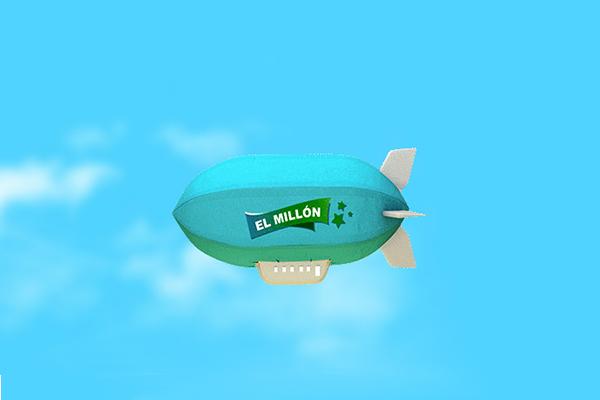 globo con publicidad de El Millón