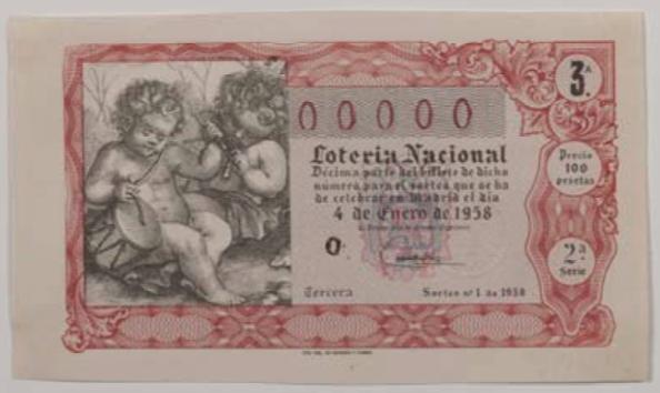 Décimo de Lotería de 1958