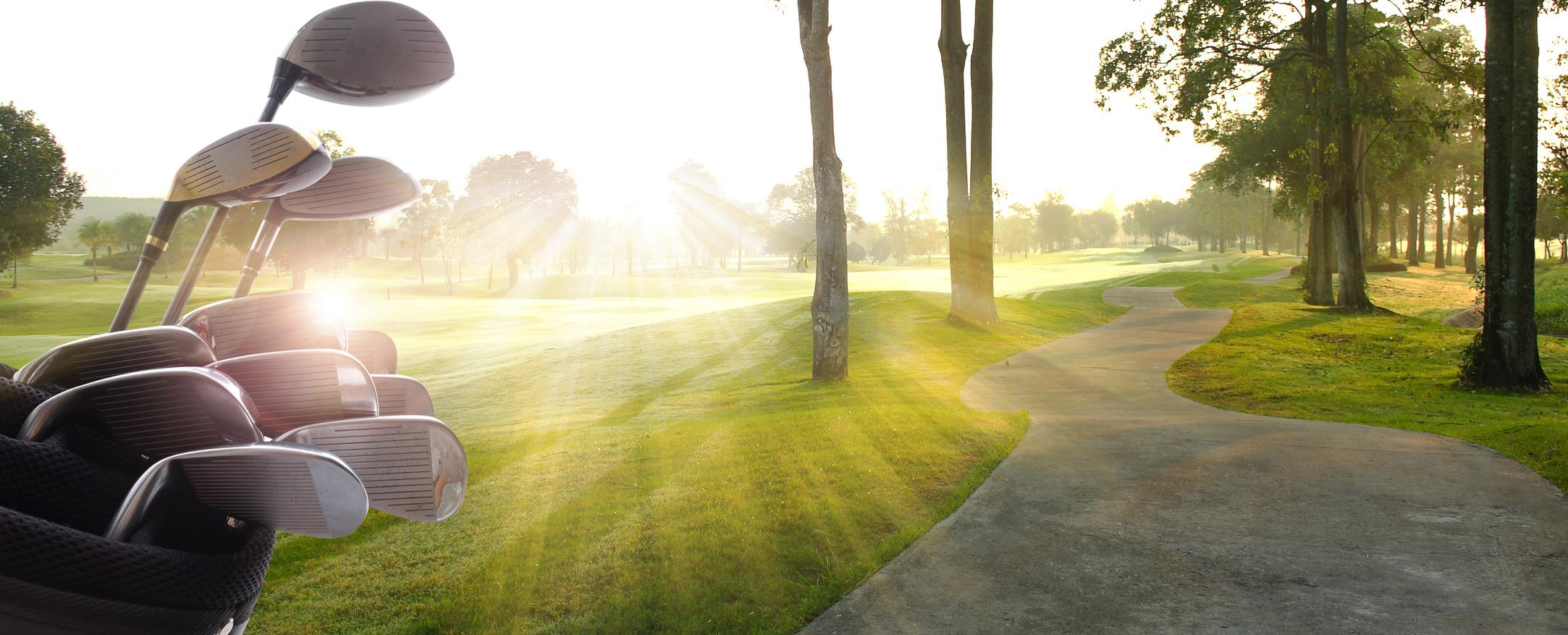 Campo y palos de golf