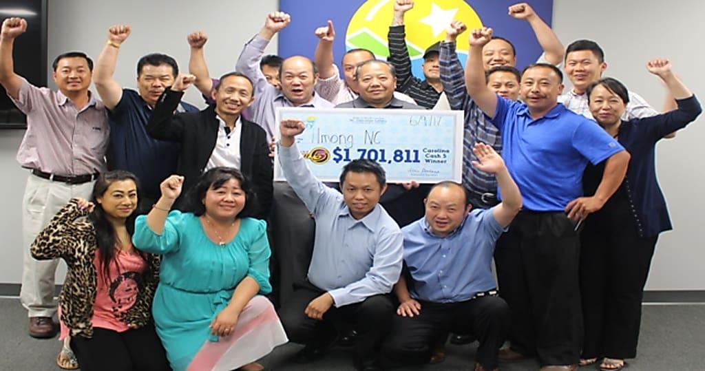 Familia ganadores lotería