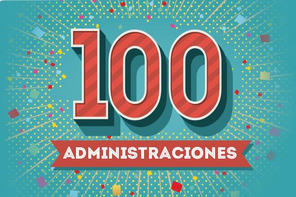 100 administraciones