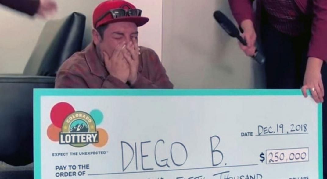 La lotería le cambia la vida
