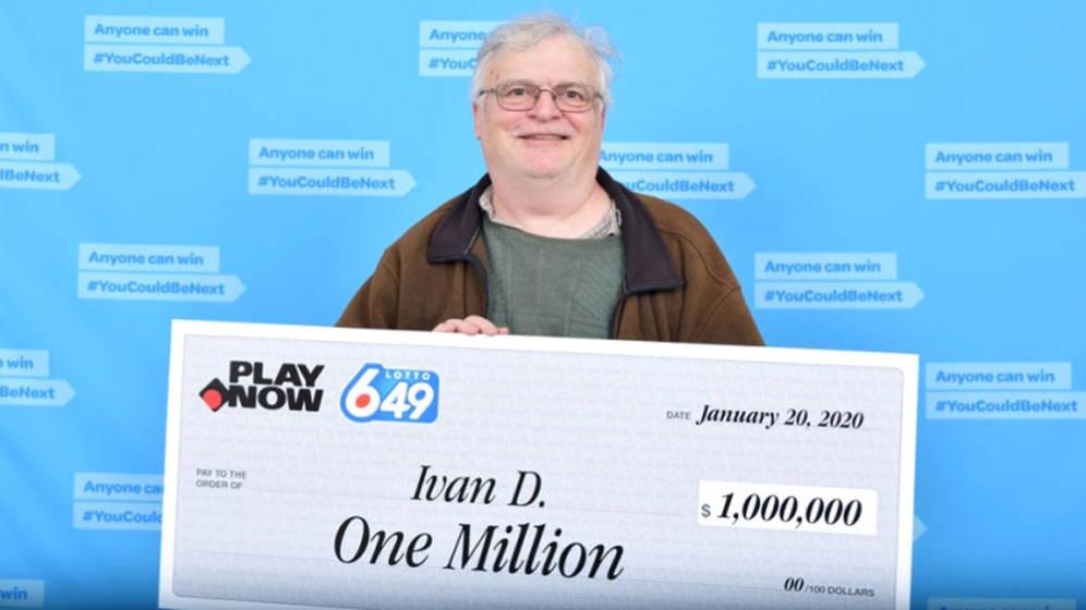 Farero cobra su premio de lotería
