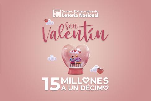 14 febrero sorteo extraordinario de San Valentín